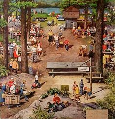 Labor Day Picnic - Stevan Dohanos...( I absolutely adore this photo to hang on a wall).