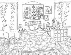 Bedrooms: A Coloring Book by Amanda Laurel Atkins Coloring books Coloring pages Color