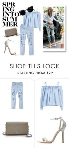"""""""Spring Into Summer"""" by esmestar04 ❤ liked on Polyvore featuring Sandy Liang, Tory Burch and Wild Diva"""