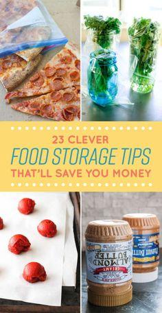 awesome 23 Clever Food Storage Tips That Will Save You So Much Money Food Storage, Storage Ideas, Storage Organization, Smart Storage, Kitchen Organization, Storage Solutions, Tips & Tricks, Baking Tips, Baking Secrets