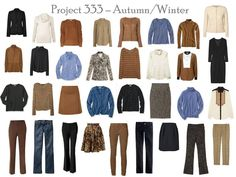 The Vivienne Files: Project 333: caramel and black. I don't think I would choose blue for my color but still, a good concept!