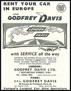 Godfrey Davis - 1953 When service and customer satisfaction was key.