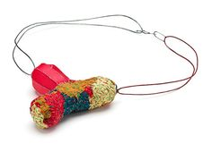 Myung Urso  Neckpiece: Sign of Life 2012  Silk, thread, sterling silver and lacquer