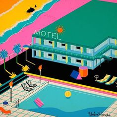 These paintings evoke the 1980s in all its plastic neon-pastel cocaine glory   Dangerous Minds