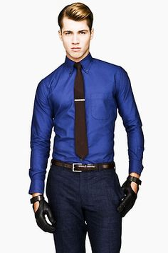 Royal Blue Dress Shirt And Tie