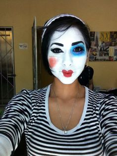 Mime Makeup, Halloween Face Makeup, Cute Clown, Clowns, Goth, Make Up, Passion, Maquillaje, Gothic