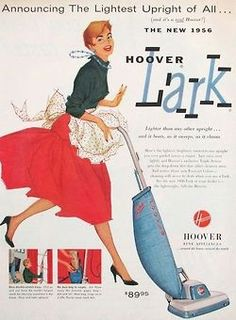 Hoover Lark advertisement, 1956~ ~ Looks like she's having a Blast!