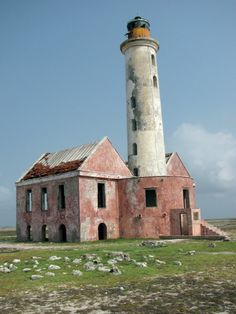 Abandoned lighthouse on Klein Curaçao