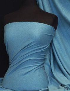 100% Cotton-Interlock-Jersey, marl denim blue, w158cm, £6/m