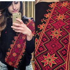New Shawl is in!   New modern design with a twist using the traditional red and gold.   Bigger pattern and a beautiful addition to your outfit that proudly represents the heritage.   Enjoy   Shayma's