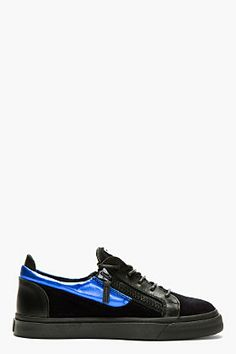 Giuseppe Zanotti Blue & Black Suede London Sneakers for men Summer Sneakers, New Sneakers, Girls Sneakers, Giuseppe Shoes, Giuseppe Zanotti Heels, High End Mens Shoes, Balenciaga Arena Sneakers, Sneakers Street Style, Mens Fashion Shoes