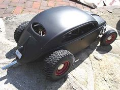 VW Bug-rod or Rat-bug or ??????... Love this with the tire combo, but I'd have to further the custom placement of the exhaust
