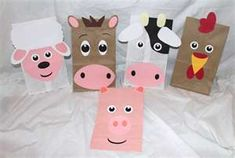 sack puppets for the kiddos to make!