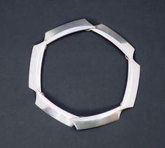 Georg Jensen Modernist Sterling Silver Link Bracelet by Bent