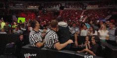 Dean Ambrose Beating Up Seth Rollins!!! it's so BEAUTIFUL...