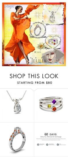 """Jeulia Jewelry Magic 11."" by esma178 ❤ liked on Polyvore featuring women's clothing, women, female, woman, misses and juniors"