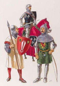 Patrice COURCELLE (1950 -) - Époque féodale (XIIIe et XIVe siècles). 1. Milicien. [...], Cartes Postales - Gravures, Estampes - Livres - Figurines militaires at Morel de Westgaver | Auction.fr