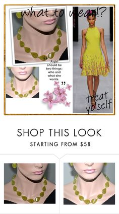 """""""Jade Necklace"""" by jewelrybyirina ❤ liked on Polyvore featuring Issa"""