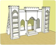 This would be a challenge to build, but a great addition to the Princess Playroom!