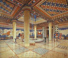 Nestor's Palace at Pylos, by artist Piet de Jong