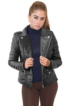 New Trending Outerwear: Womens Faux Leather Zip Up Moto Biker Jacket OMLJ 5602 BLACK XL. Womens Faux Leather Zip Up Moto Biker Jacket OMLJ 5602 BLACK XL  Special Offer: $29.99  166 Reviews This Faux leather zip-up moto jacket brings a touch of edgy allure to your outerwear wardrobe.This Faux leather zip-up jacket brings a touch of edgy allure to your outerwear wardrobeSize...