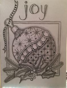 Xmas Drawing, Card Drawing, Christmas Drawing, Drawing Ideas, Doodle Patterns, Card Patterns, Zentangle Patterns, Company Christmas Cards, Zentangle Drawings