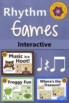 These interactive music games will be a hit with your elementary music classes. Great for reinforcing the rhythm concept and easy to add to lesson plans!
