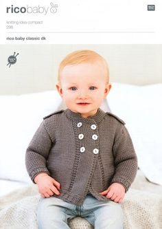 Cardigans in Rico Design Baby Classic DK (298) | Baby Knitting Patterns | Knitting Patterns | Deramores.  not free but worth the cost