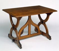 Victorian Medieval style table in oak, A. W. N. Pugin. Article: Victorian Furniture Styles via the Victorian and Albert Museum. www.vam.ac.uk