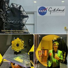 We had a very interesting presentation and cool tour of the James Webb Telescope project at @nasa  Really lucky to see it before it leaves Goddard and starts its journey to launch and outerspace. #space #telescope #bigbang