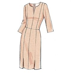 Vogue Patterns Sewing Pattern Misses' Notch-Neck Princess-Seam Dresses Dress Design Sketches, Fashion Design Drawings, Fashion Sketches, Dress Designs, Vogue Sewing Patterns, Vintage Sewing Patterns, Pattern Sewing, Fashion Drawing Dresses, Fashion Dresses