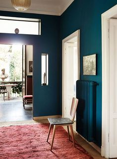 bold teal walls with tall ceilings. / sfgirlbybay