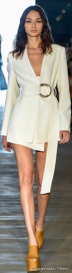 Giuliana Romanno ~ Summer White Belted Mini Dress,2016