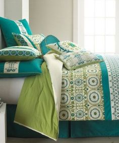 pretty-teal-green-bedding-love-this-one.jpg (287×345)