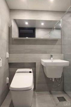 독산동 롯데캐슬 골드파크 42평 아파트 인테리어: 홍예디자인의 화장실