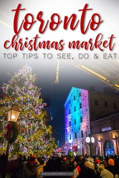 9 Things To Do At The Toronto Distillery District Christmas Market | If you are planning to visit Toronto during the winter, the one thing you must do is visit the Toronto distillery district Christmas market! There are tons of great restaurants and is an excellent place for photography. Your Toronto winter travel is not the same without a visit to Canada's most massive Christmas Market #enSquaredAired #Toronto