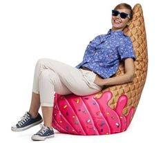 We All Scream for Bean Bag Chairs #IncredibleThings
