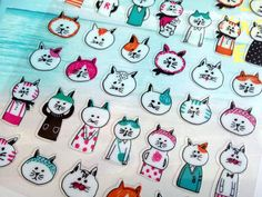 cat sticker ugly cat cozy cat cat planner by StickersKingdom