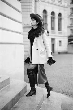 On the Street…Ascending the Stairs, Paris