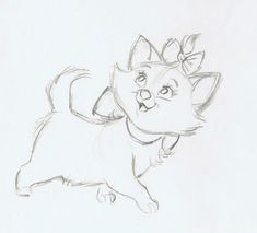 Aristocats Marie drawing #disney #aristocats #art
