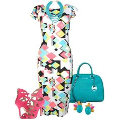 """""""Geometric Print"""" by fiona-ross on Polyvore"""