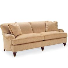 The Tryon sofa is a beautiful tight back two seat sofa with the comfort of Spring Down/Blend Down cushions that will transition nicely with most styles of decor.  Choose from a selection of quality fabrics and leathers or specify your own material to receive a custom quote.$3,400.00.  For more details and to shop my boutique visit this link: http://lizann.myshopify.com/collections/living-room/products/tryon-sofa
