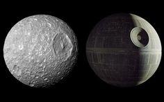 Saturn's Moon Mimas Looks Like the Death Star