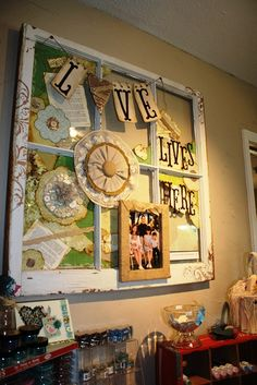 Pretty!!v transform a charming 6 pane window into a wonderful keepsake for your home!
