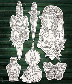 Future Tattoos, Love Tattoos, Body Art Tattoos, Traditional Tattoo Design, Traditional Tattoo Flash, Tattoo Sketches, Tattoo Drawings, Art Drawings, Dessin Old School