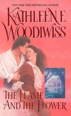 The Flame and the Flower by Kathleen Woodiwiss. This was her first book, maybe the beginning of my addiction. Kathleen died in 2007.