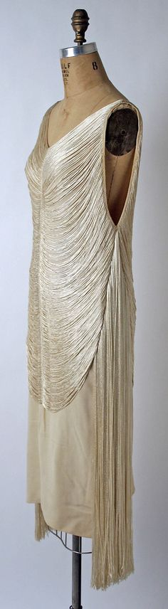 Evening dress Madeleine Vionnet  (French, Chilleurs-aux-Bois 1876–1975 Paris)   Maker: Sophie Gimbel (American) Date: 1925 Culture: American or European Medium: silk. Sideways