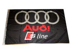 AUDI S-LINE A3 A4 A5 A7 FAN FAHNE NEU 140x90cm MIT BEFESTIGUNG !STARTPREIS 1€ | eBay