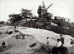 Montmartre et le Moulin de la Galette en 1912.
