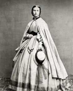 8 by 10 Civil War Photo Print Woman Lovely Dress, Cloak | eBay